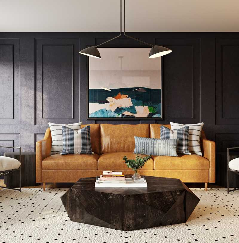 Contemporary, Transitional Living Room Design by Havenly Interior Designer Sandra