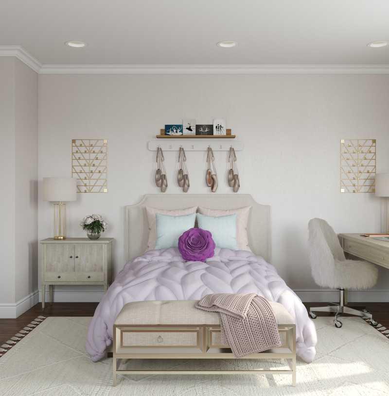 Coastal, Glam Bedroom Design by Havenly Interior Designer Fendy