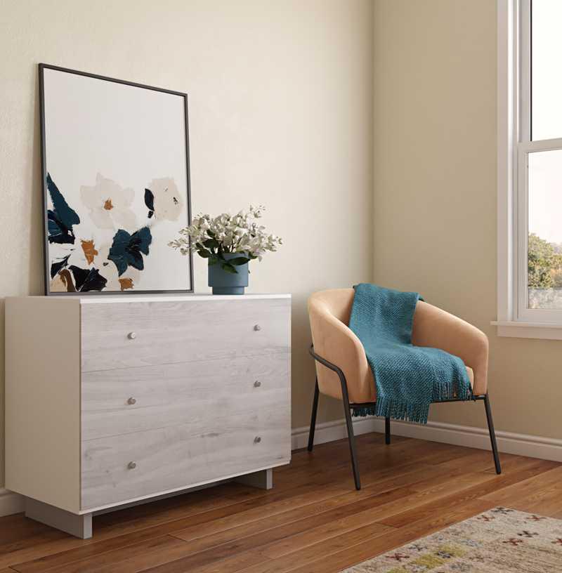 Bohemian, Southwest Inspired Bedroom Design by Havenly Interior Designer Leslie