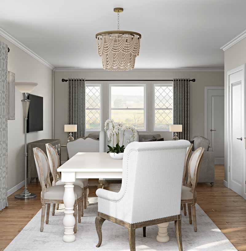 Classic, Traditional, Farmhouse, Rustic, Transitional Dining Room Design by Havenly Interior Designer Lisa