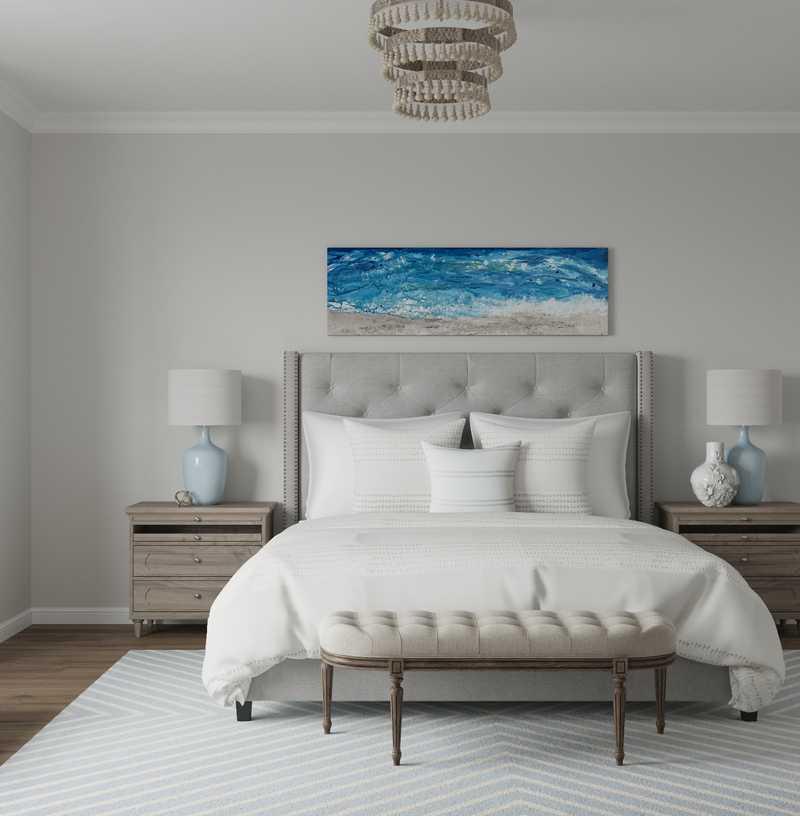 Classic, Coastal Bedroom Design by Havenly Interior Designer Laura