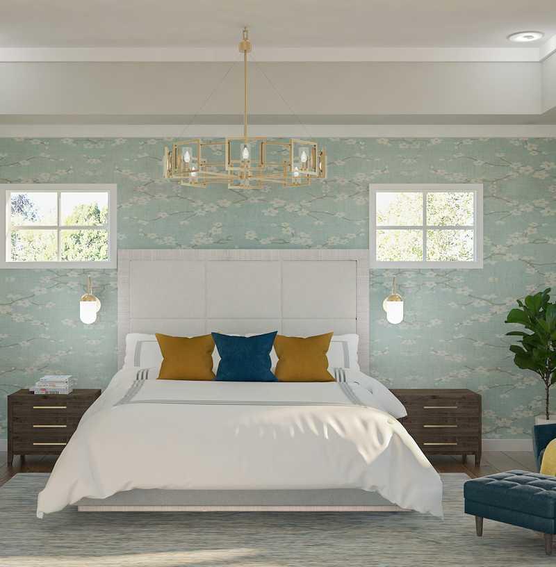 Contemporary, Modern, Transitional, Midcentury Modern Bedroom Design by Havenly Interior Designer Shruti