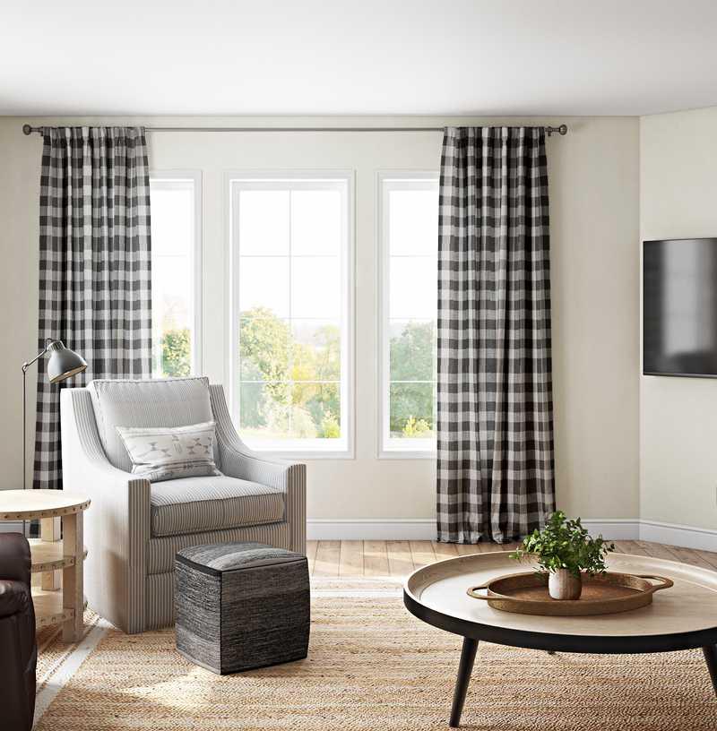 Classic, Coastal Living Room Design by Havenly Interior Designer Jillian