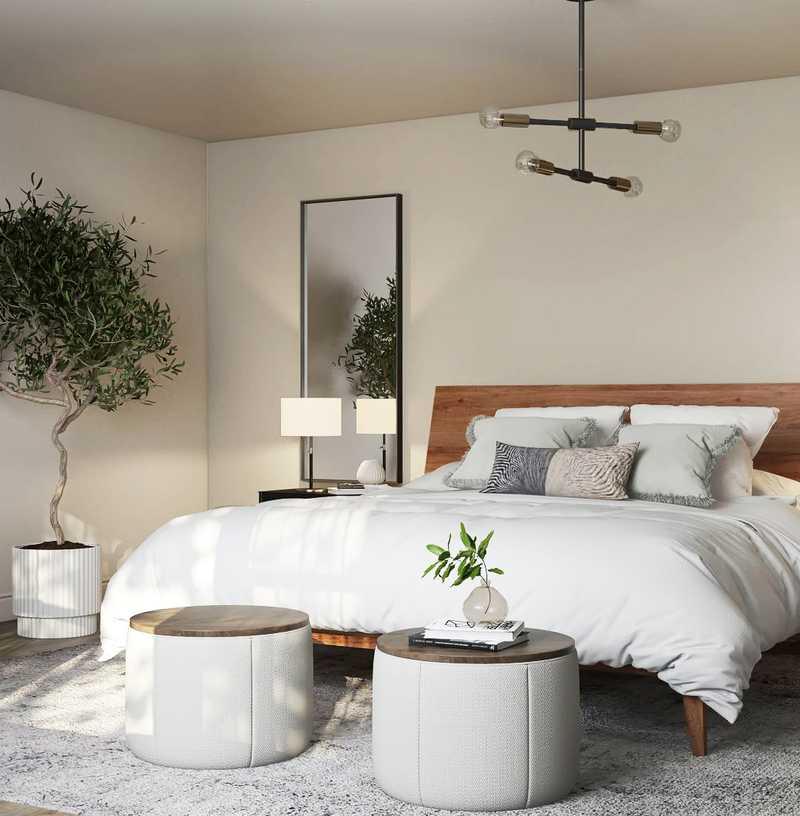 Modern, Farmhouse, Midcentury Modern Bedroom Design by Havenly Interior Designer Astrid