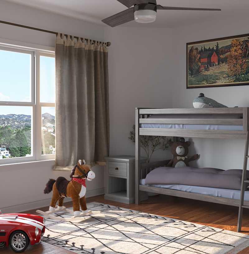Farmhouse, Southwest Inspired Bedroom Design by Havenly Interior Designer Justin