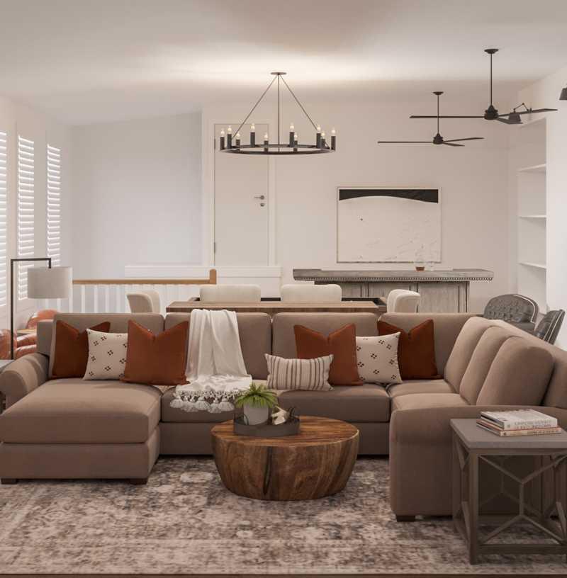 Farmhouse Living Room Design by Havenly Interior Designer Tatiana