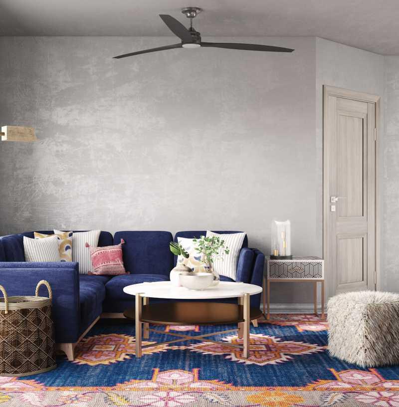 Eclectic, Midcentury Modern Living Room Design by Havenly Interior Designer Erica
