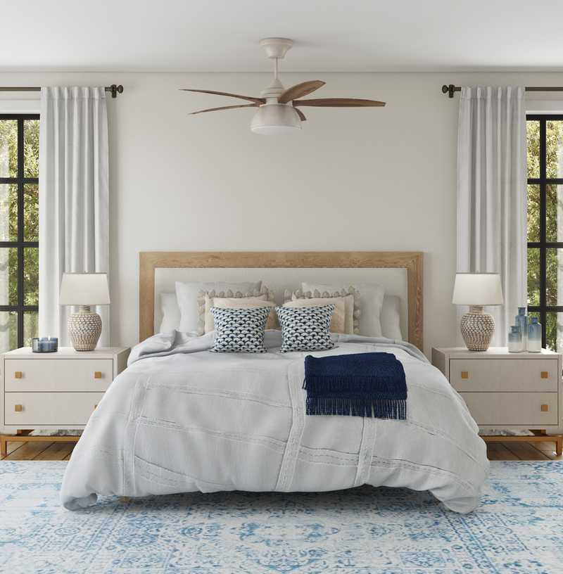 Modern, Coastal, Scandinavian Bedroom Design by Havenly Interior Designer Laura