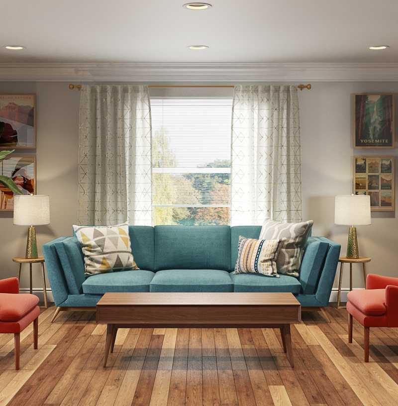 Midcentury Modern Living Room Design by Havenly Interior Designer Rachel