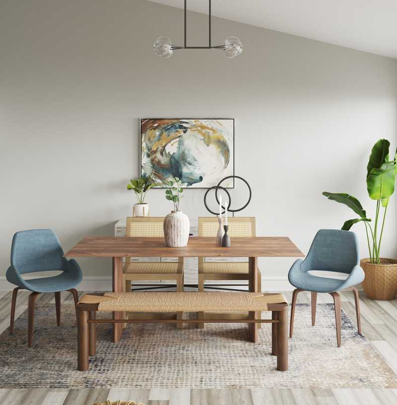 Contemporary, Modern, Eclectic, Midcentury Modern Dining Room Design by Havenly Interior Designer Fendy