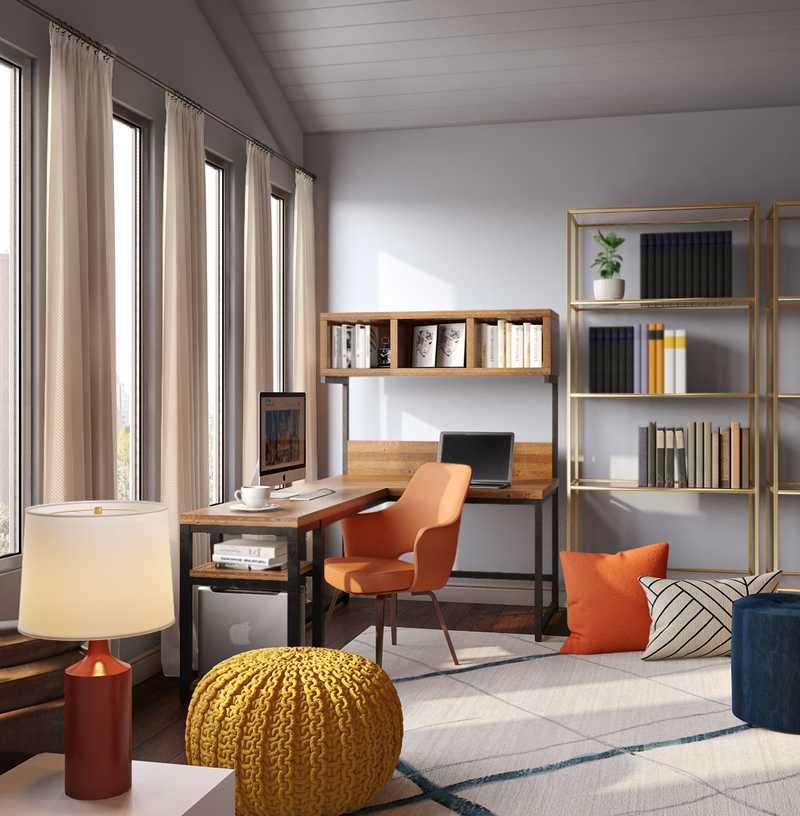 Eclectic, Industrial Office Design by Havenly Interior Designer Sydney