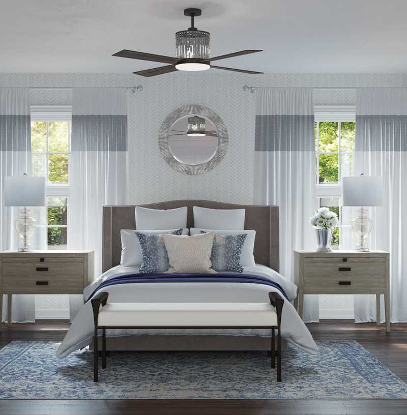 Contemporary, Transitional Bedroom Design by Havenly Interior Designer Fendy