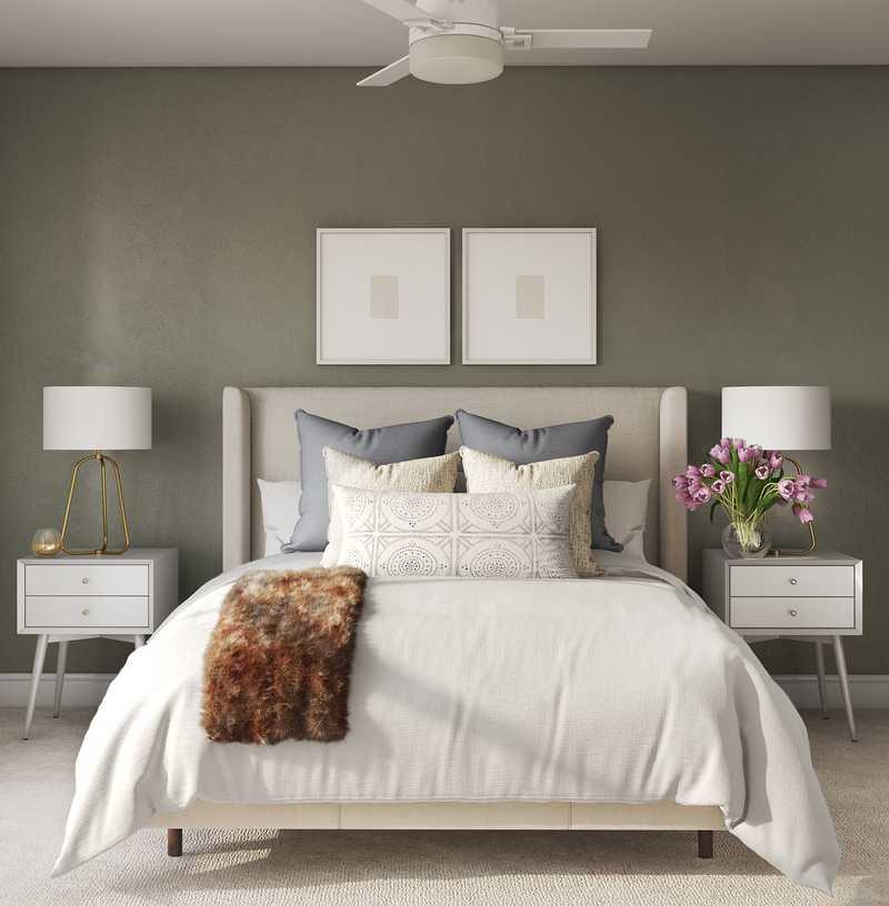 Classic, Transitional, Midcentury Modern Bedroom Design by Havenly Interior Designer Christine