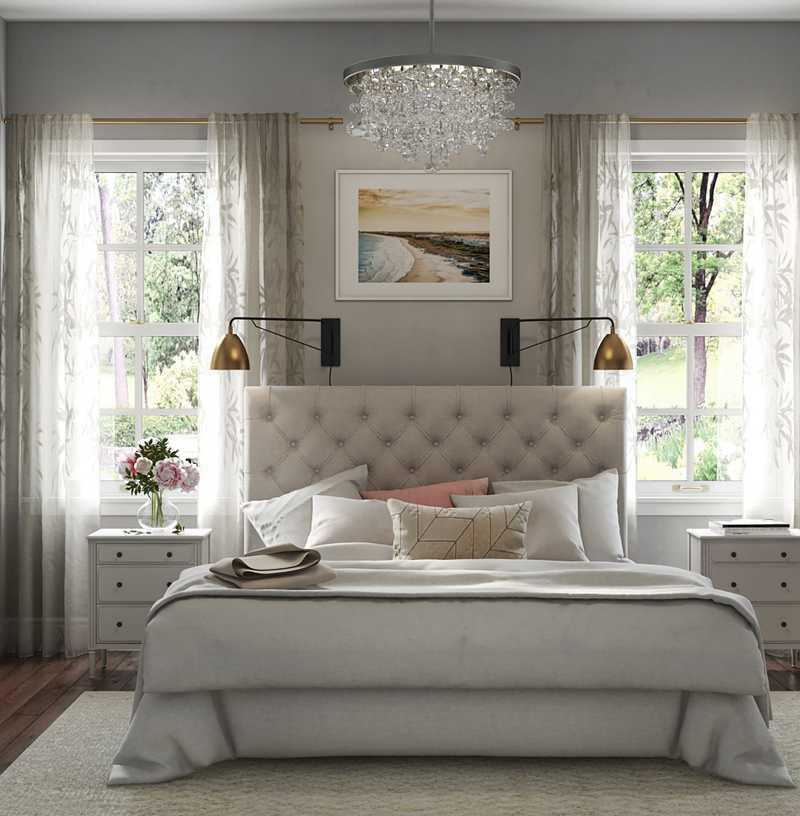 Modern, Classic Bedroom Design by Havenly Interior Designer Nancy