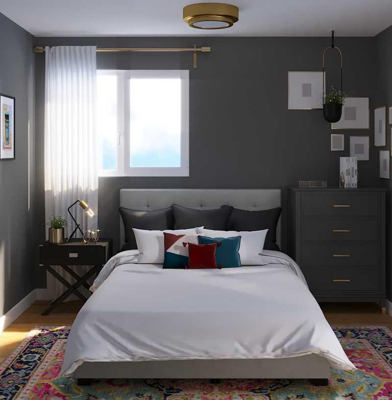 Modern, Eclectic, Glam Bedroom Design by Havenly Interior Designer Madison