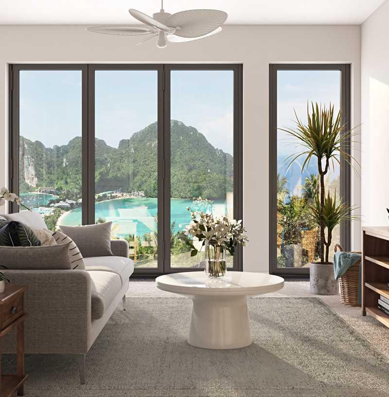 Coastal, Scandinavian Living Room Design by Havenly Interior Designer Elyse