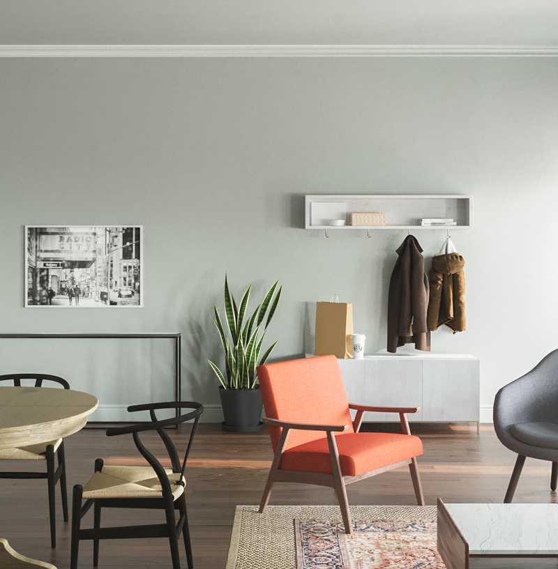 Midcentury Modern, Scandinavian Living Room Design by Havenly Interior Designer Isabella