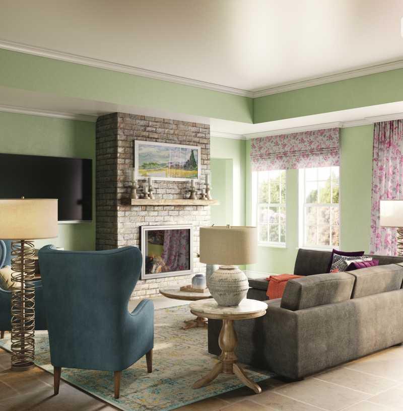 Coastal, Farmhouse, Transitional Living Room Design by Havenly Interior Designer Julie