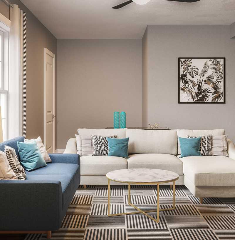 Midcentury Modern Living Room Design by Havenly Interior Designer Brooke