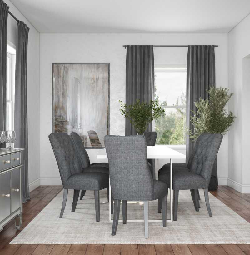 Contemporary, Modern, Glam Dining Room Design by Havenly Interior Designer Marisa