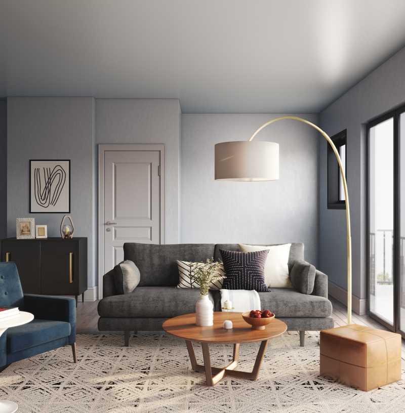 Modern, Midcentury Modern, Minimal, Scandinavian Living Room Design by Havenly Interior Designer Saba