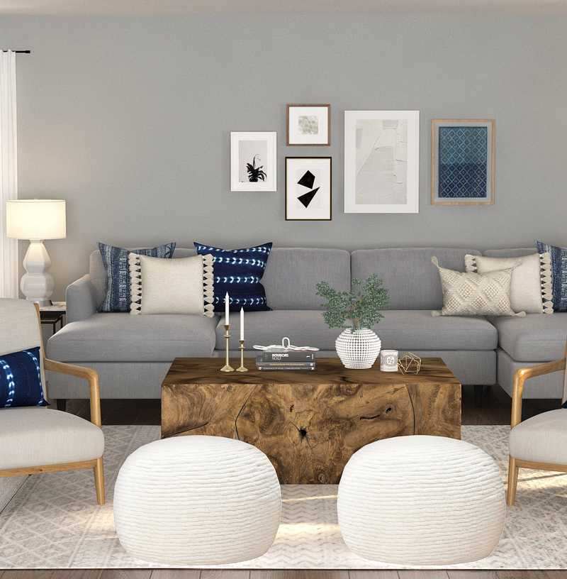 Contemporary, Glam, Transitional Living Room Design by Havenly Interior Designer Hannah
