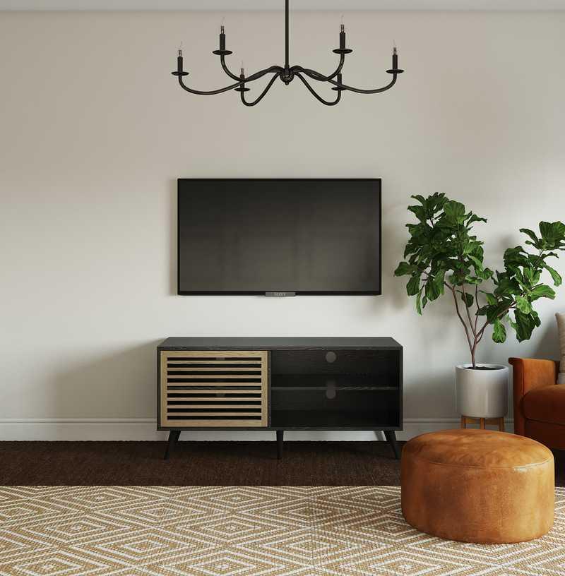 Transitional, Midcentury Modern Bedroom Design by Havenly Interior Designer Aishwarya