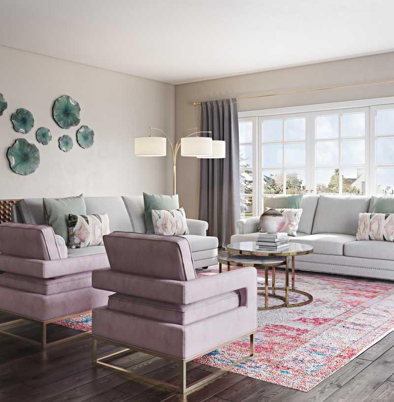 Eclectic, Bohemian, Global Living Room Design by Havenly Interior Designer Rocio