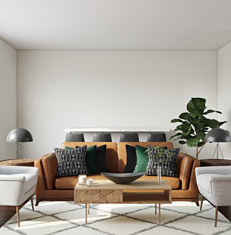 Modern, Midcentury Modern, Minimal, Scandinavian Living Room Design by Havenly Interior Designer Tabithalynn