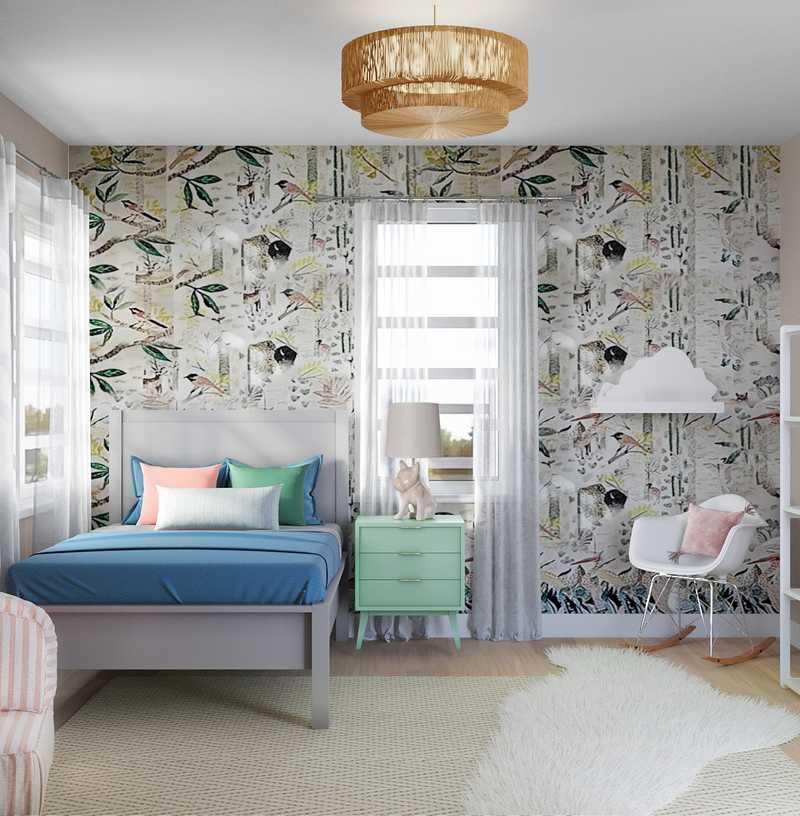 Bohemian, Scandinavian Bedroom Design by Havenly Interior Designer Savannah