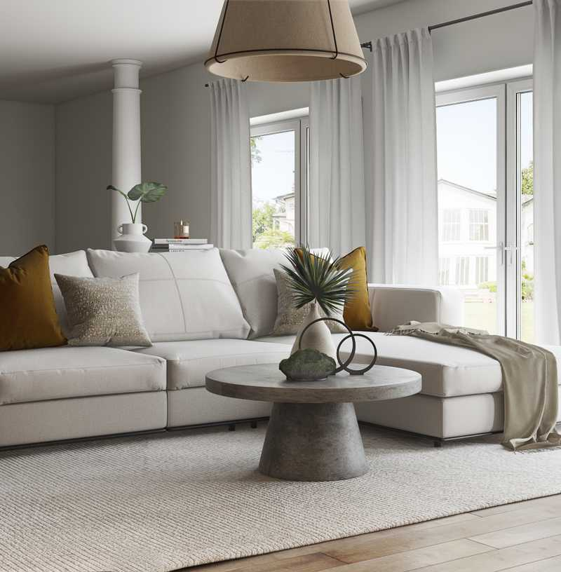 Modern, Bohemian, Minimal Living Room Design by Havenly Interior Designer Lilly