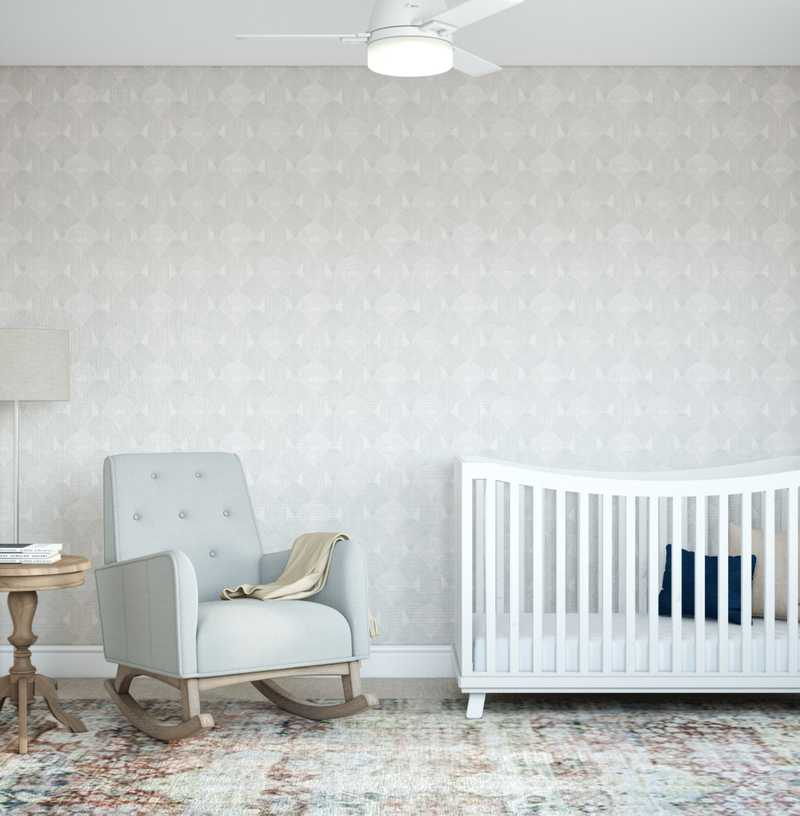 Bohemian, Traditional, Transitional Nursery Design by Havenly Interior Designer Laura