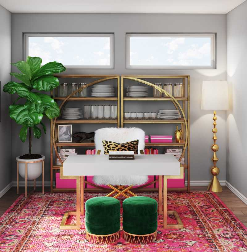 Glam Office Design by Havenly Interior Designer Marie