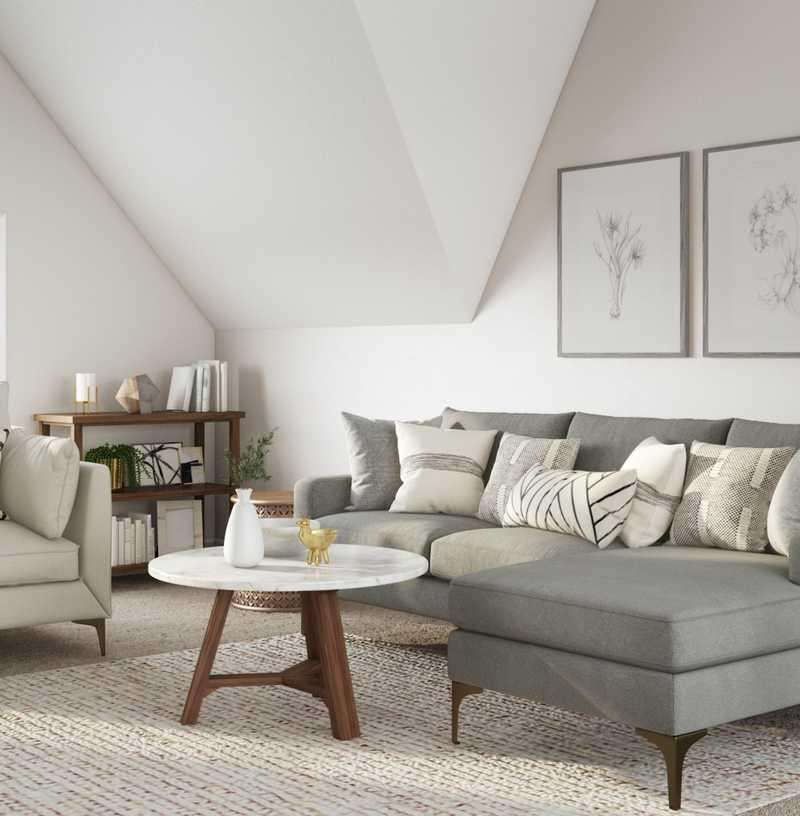 Classic, Bohemian Living Room Design by Havenly Interior Designer Teresa