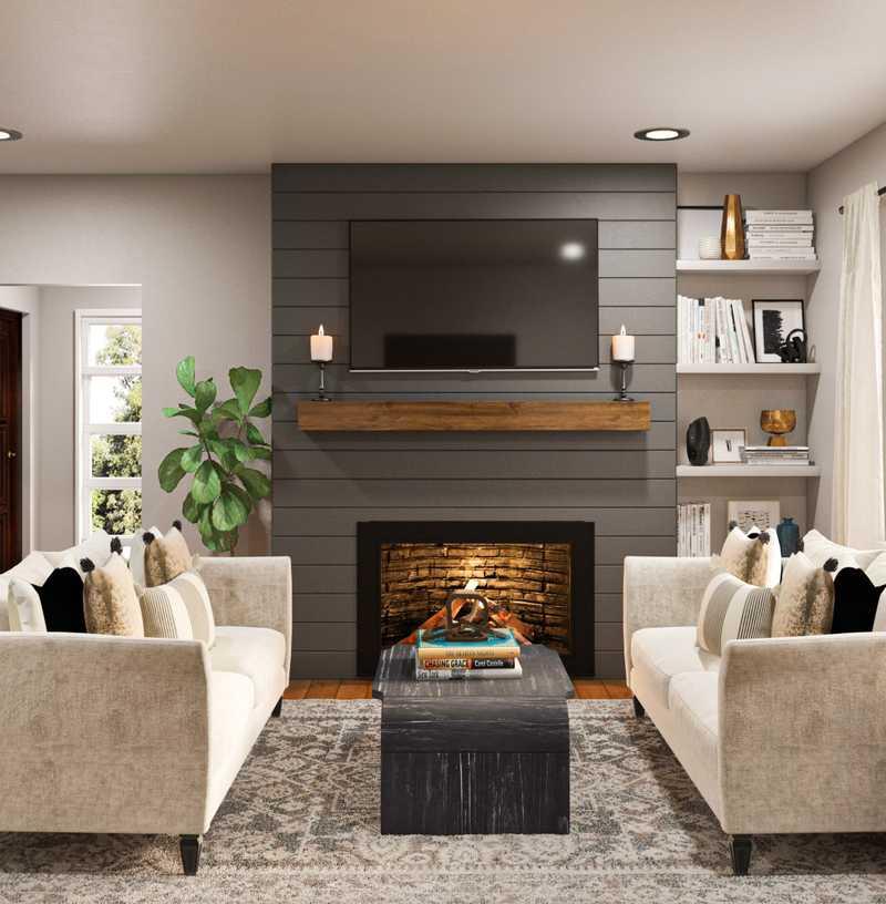Modern, Classic, Glam Living Room Design by Havenly Interior Designer Ashley