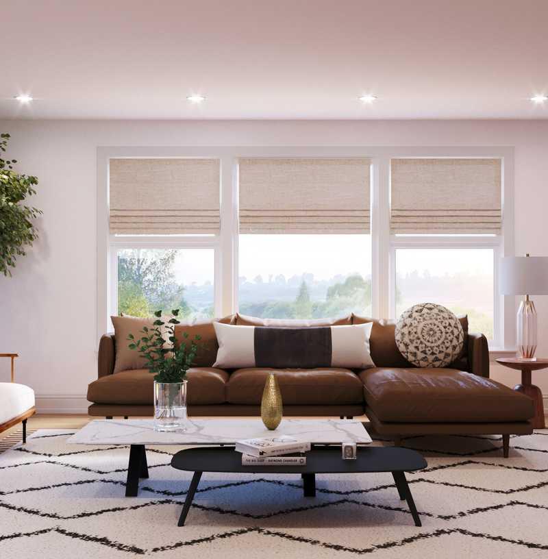 Midcentury Modern, Scandinavian Living Room Design by Havenly Interior Designer Aurelie