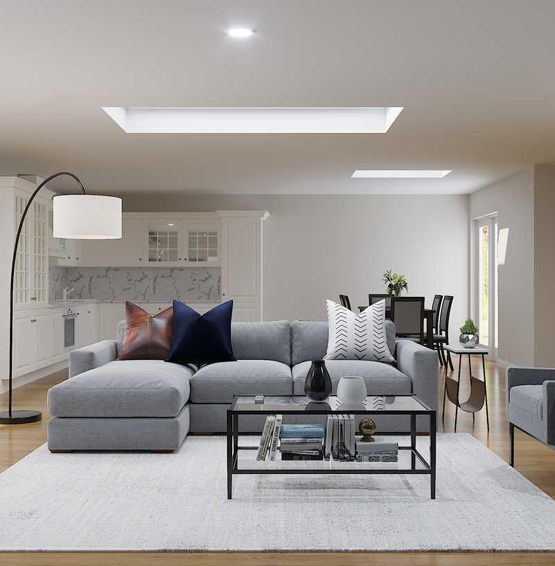 Modern, Industrial, Minimal Living Room Design by Havenly Interior Designer Megan