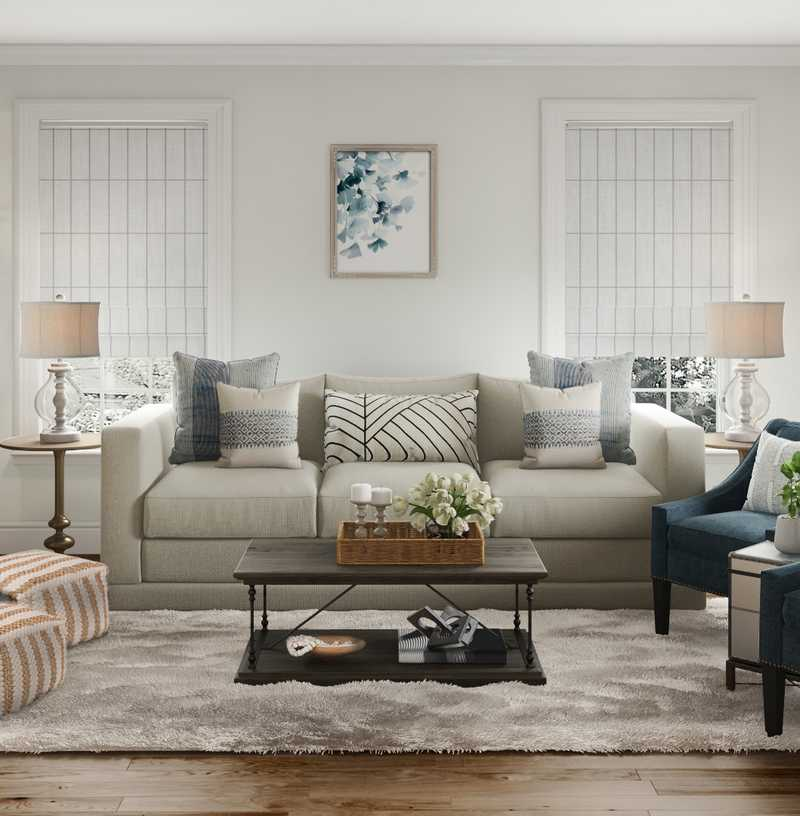 Traditional, Farmhouse, Rustic, Transitional Living Room Design by Havenly Interior Designer Fendy