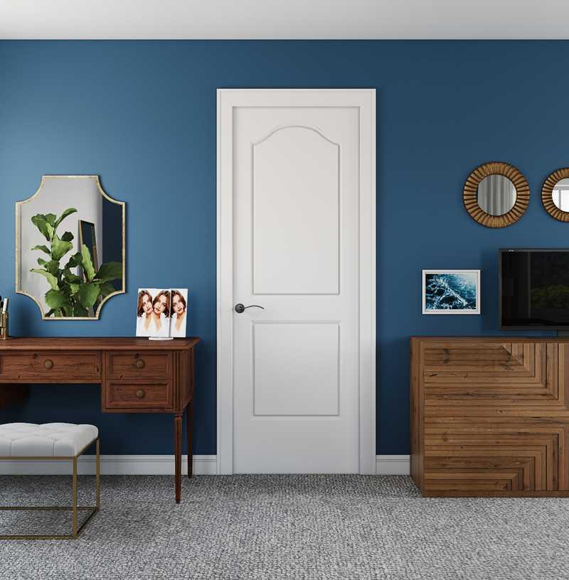 Contemporary, Modern, Glam, Industrial, Transitional, Midcentury Modern Office Design by Havenly Interior Designer Anna