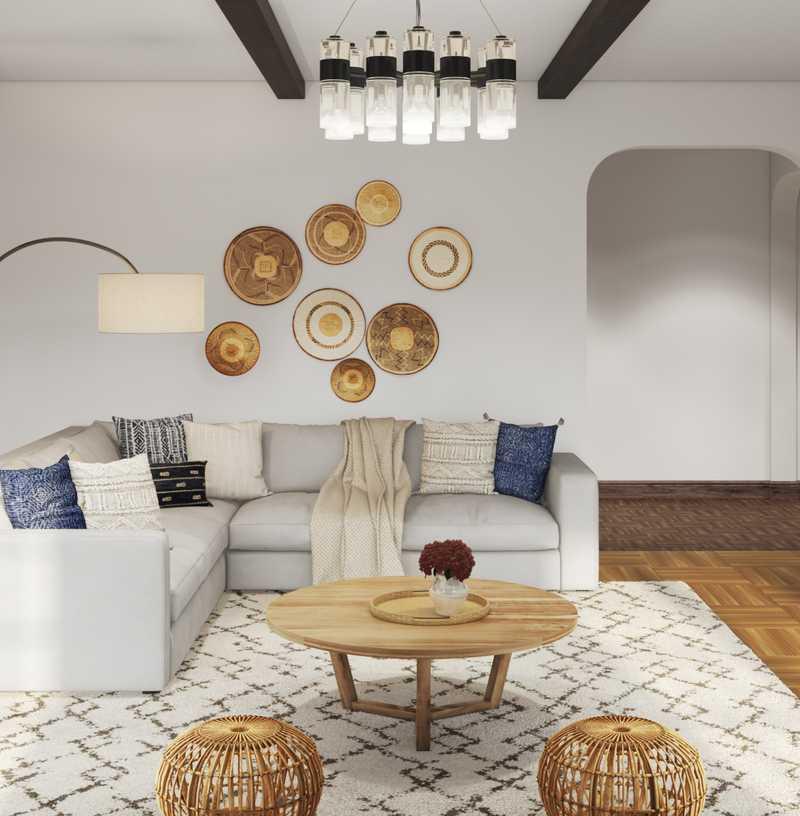 Modern, Bohemian, Industrial Living Room Design by Havenly Interior Designer Michelle