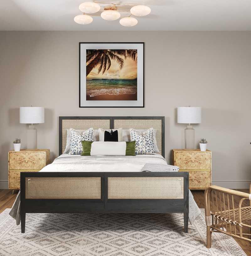 Bohemian, Coastal, Rustic Bedroom Design by Havenly Interior Designer Sydney