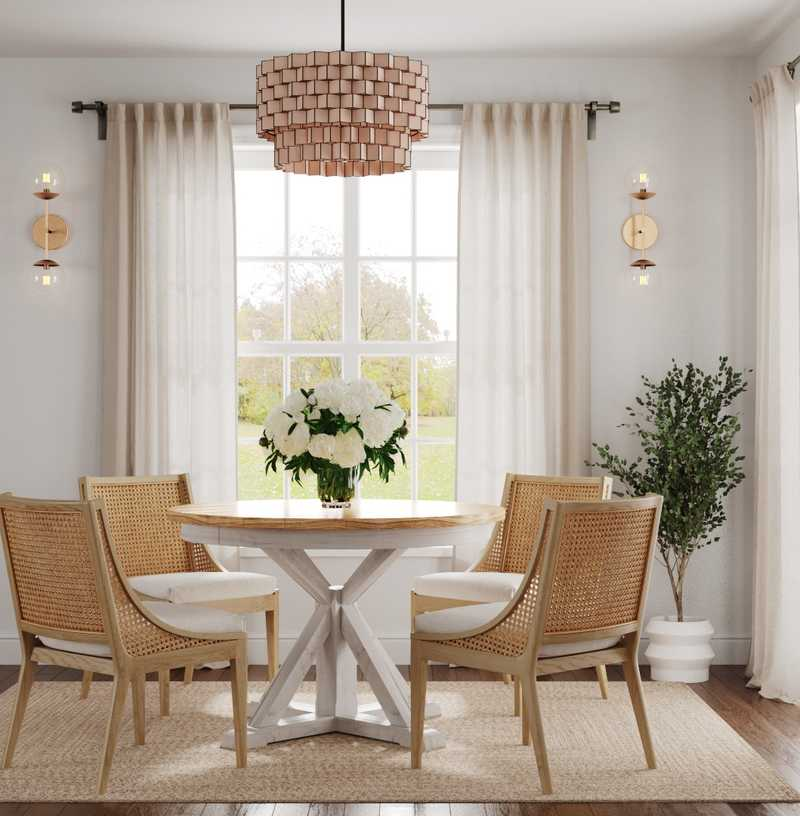 Contemporary, Bohemian Dining Room Design by Havenly Interior Designer Mariela