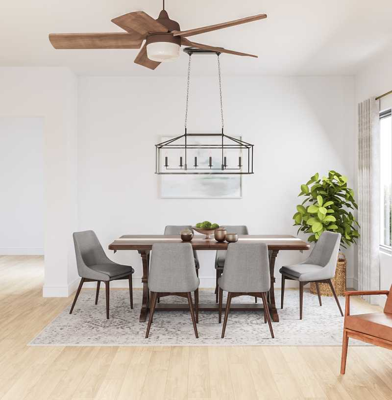 Farmhouse, Transitional, Midcentury Modern Dining Room Design by Havenly Interior Designer Amy