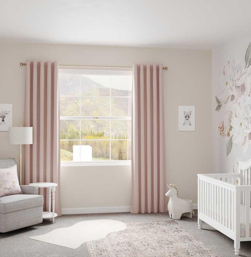 Glam, Preppy Nursery Design by Havenly Interior Designer Fendy