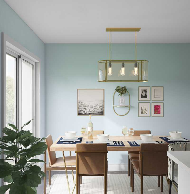 Contemporary, Global, Midcentury Modern Dining Room Design by Havenly Interior Designer Isabella