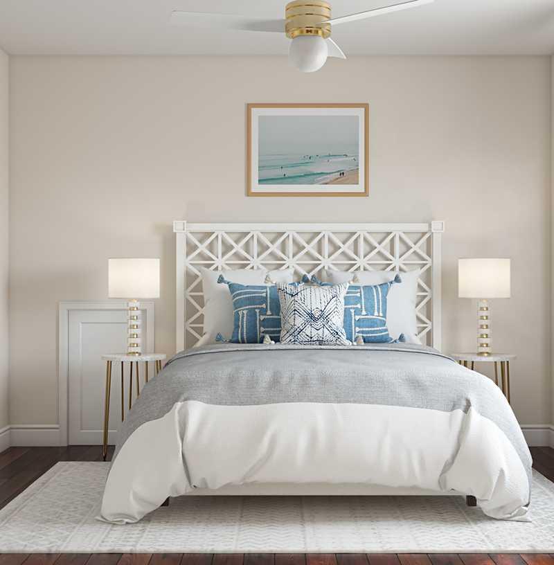 Contemporary, Coastal, Transitional Bedroom Design by Havenly Interior Designer Kelly