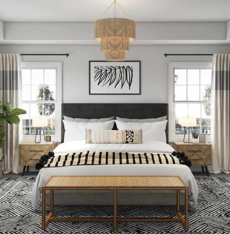 Contemporary Bedroom Design by Havenly Interior Designer Kelly