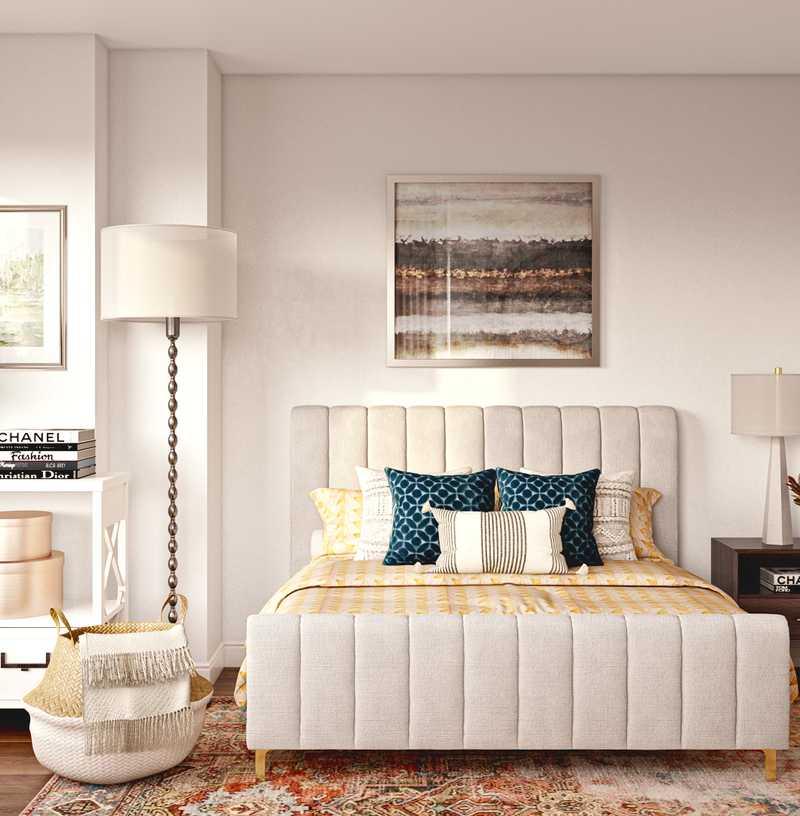 Bohemian, Midcentury Modern, Scandinavian Bedroom Design by Havenly Interior Designer Anna