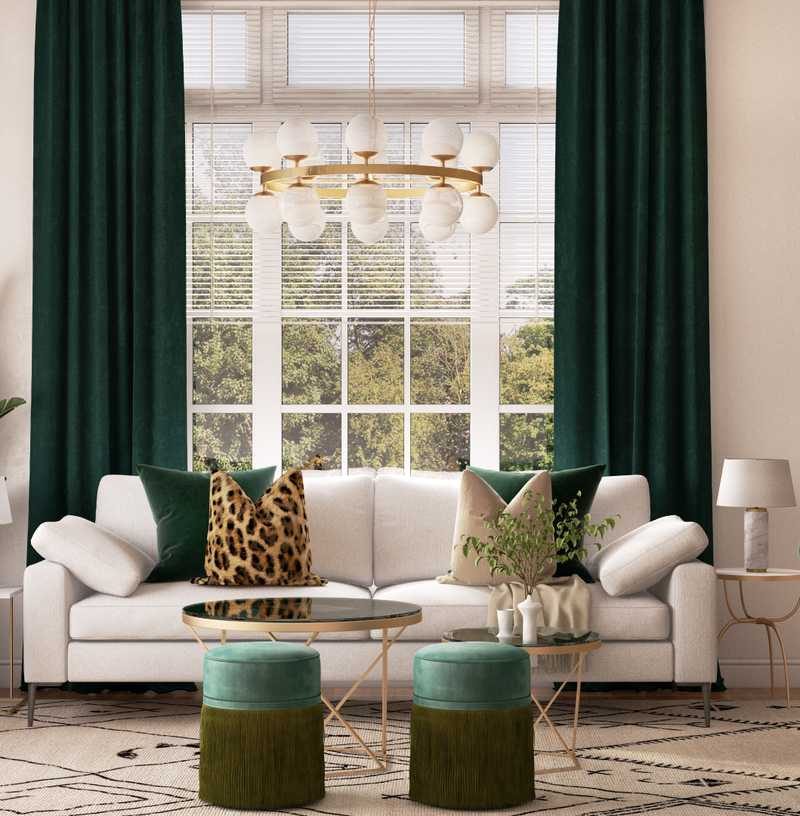 Eclectic, Bohemian Living Room Design by Havenly Interior Designer Ghianella