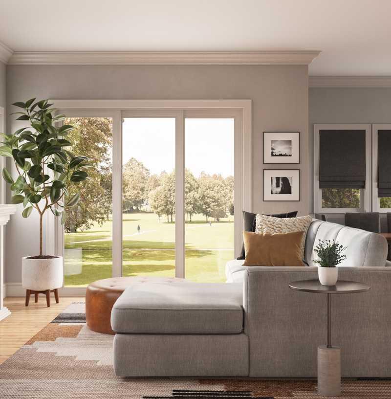 Modern, Glam Living Room Design by Havenly Interior Designer Kayla